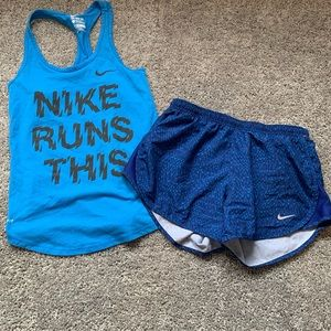 Nike athletic outfit shorts top size Xs
